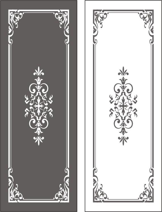 Рисунки на двери вензеля